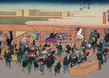 040_歌川広重「浪花名所図会 雑喉場魚市の図」.mp4_000002515